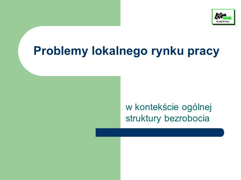 Problemy lokalnego rynku pracy