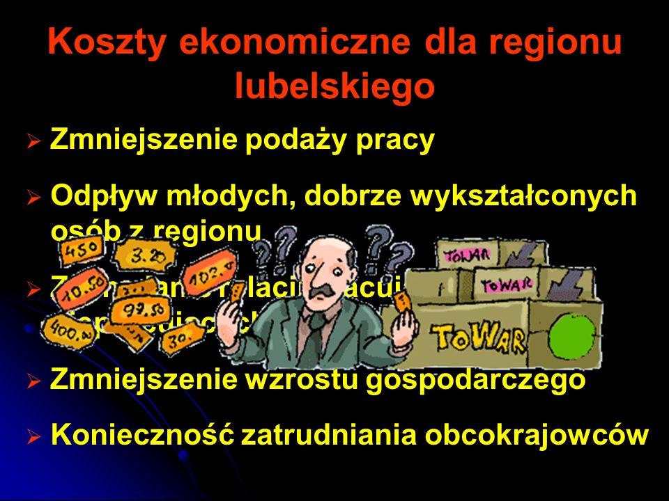 Koszty ekonomiczne dla regionu lubelskiego