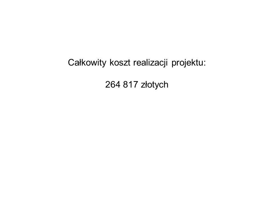 Całkowity koszt realizacji projektu: 264 817 złotych