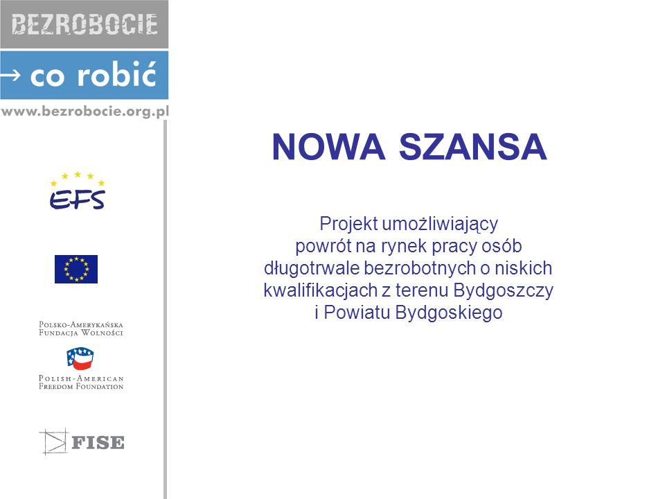 NOWA SZANSA Projekt umożliwiający powrót na rynek pracy osób długotrwale bezrobotnych o niskich kwalifikacjach z terenu Bydgoszczy i Powiatu Bydgoskiego