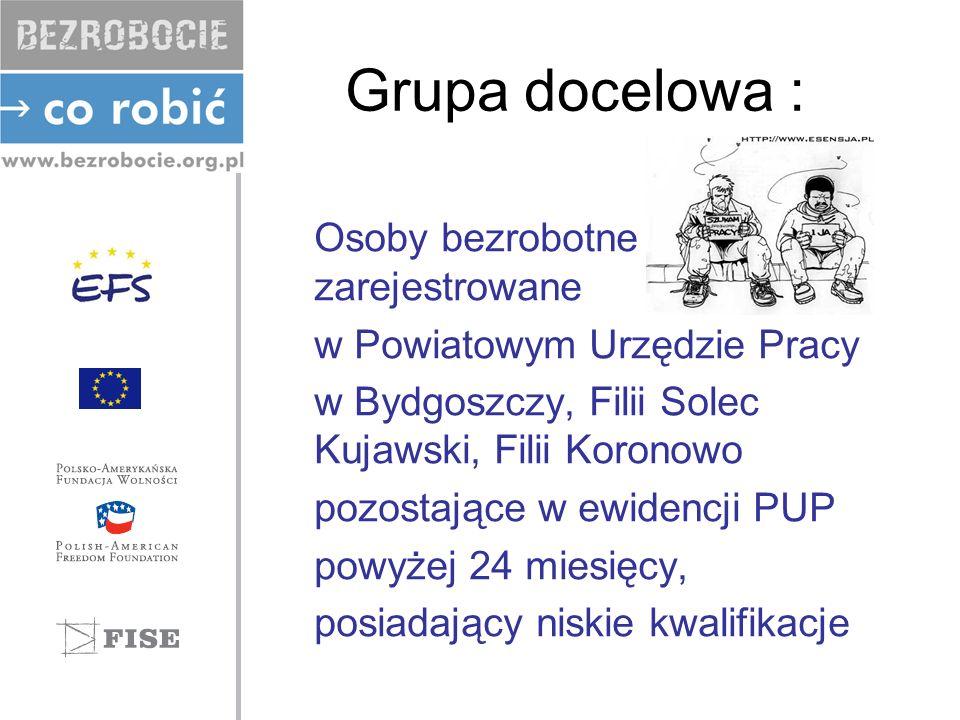 Grupa docelowa : Osoby bezrobotne zarejestrowane