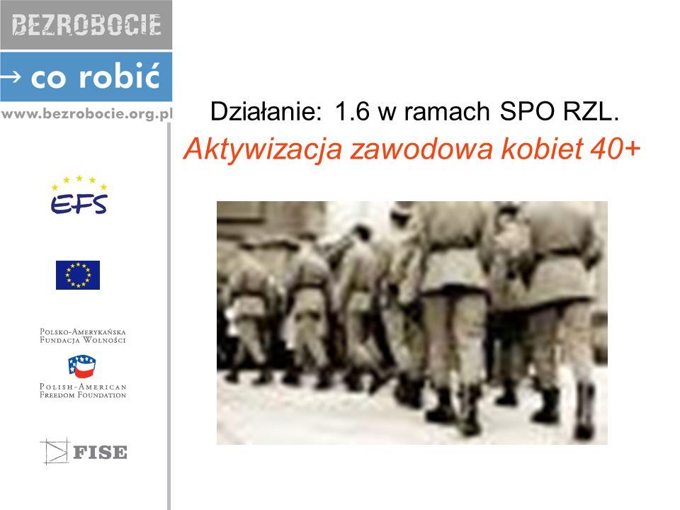 Działanie: 1.6 w ramach SPO RZL.