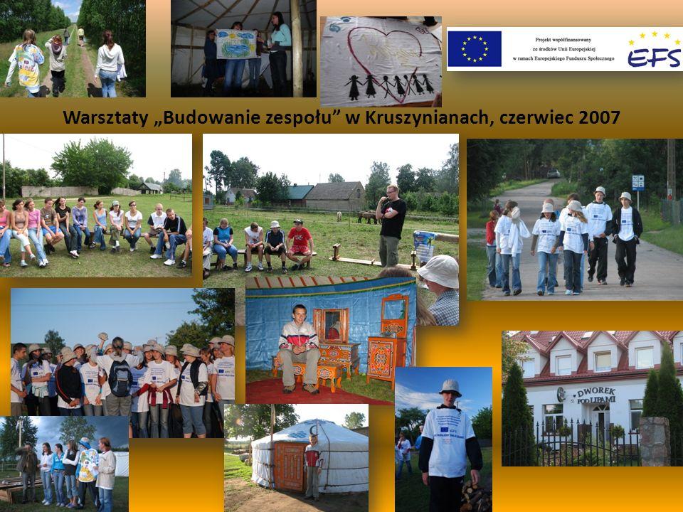 """Warsztaty """"Budowanie zespołu w Kruszynianach, czerwiec 2007"""