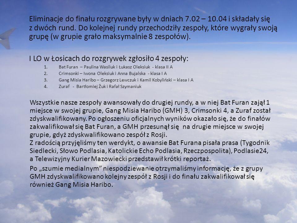 I LO w Łosicach do rozgrywek zgłosiło 4 zespoły: