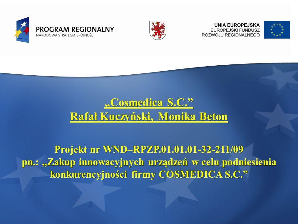 Rafał Kuczyński, Monika Beton Projekt nr WND–RPZP.01.01.01-32-211/09