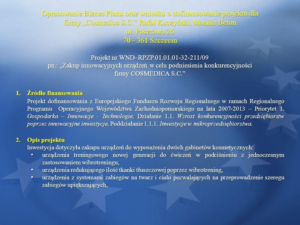Opracowanie Biznes Planu oraz wniosku o dofinansowanie projektu dla