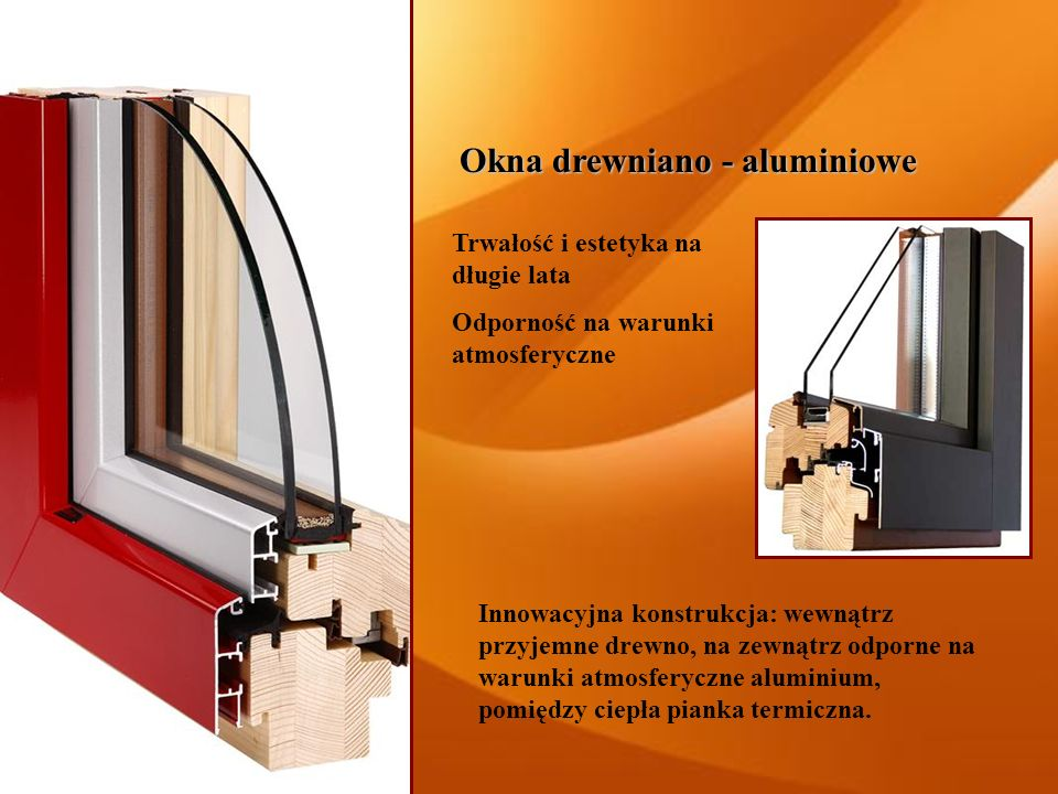 Okna drewniano - aluminiowe
