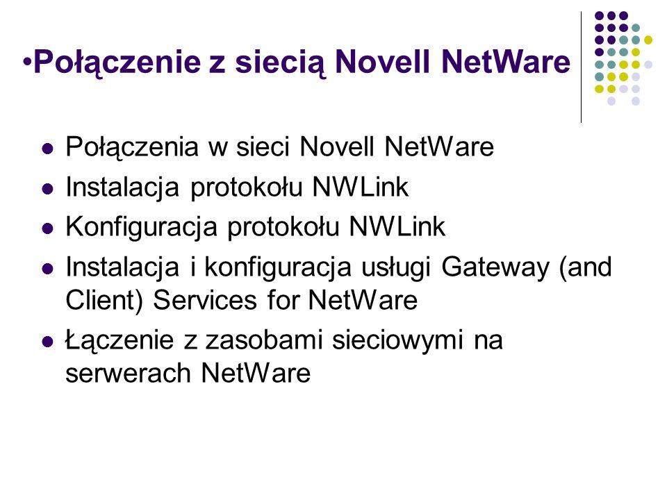 Połączenie z siecią Novell NetWare