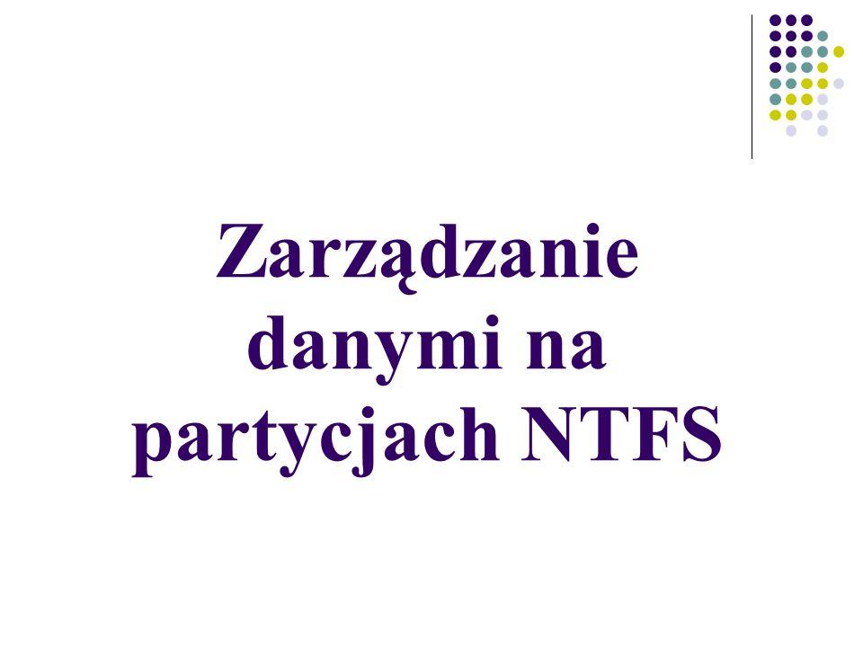 Zarządzanie danymi na partycjach NTFS