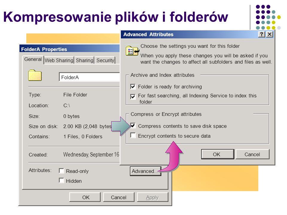 Kompresowanie plików i folderów
