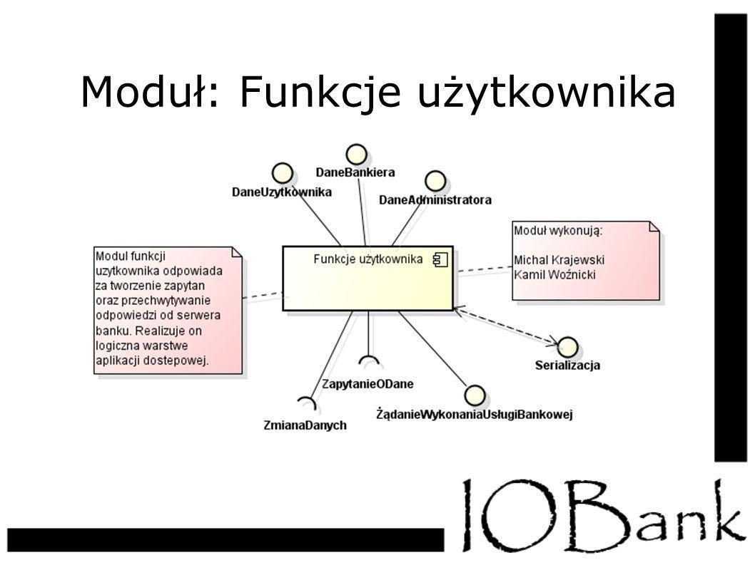 Moduł: Funkcje użytkownika