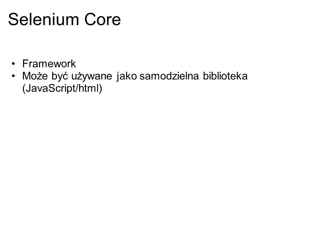 Selenium Core Framework