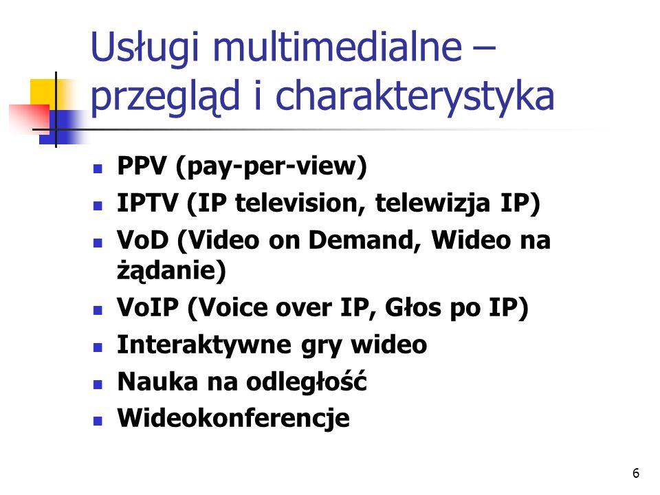 Usługi multimedialne – przegląd i charakterystyka