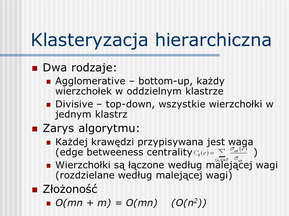 Klasteryzacja hierarchiczna