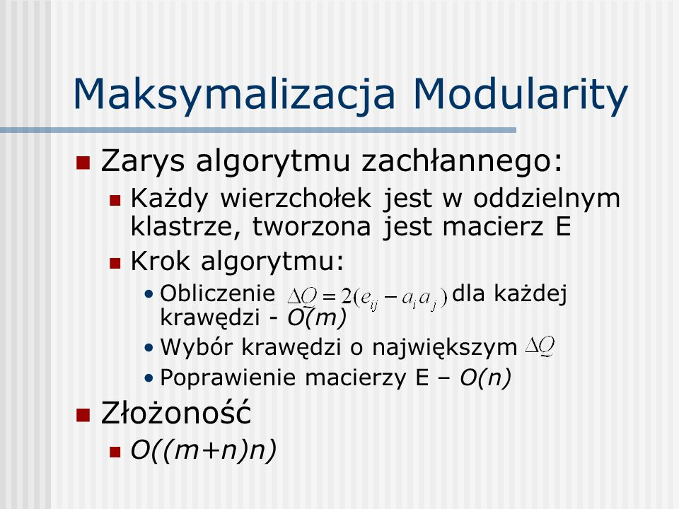 Maksymalizacja Modularity
