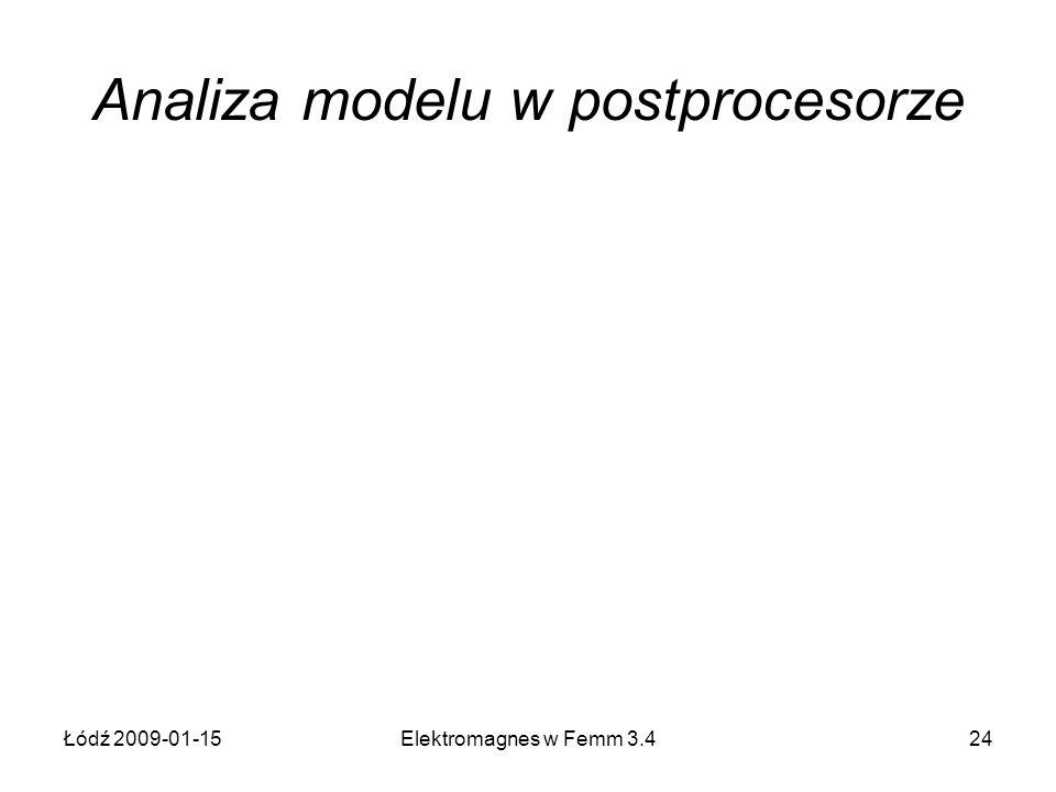 Analiza modelu w postprocesorze