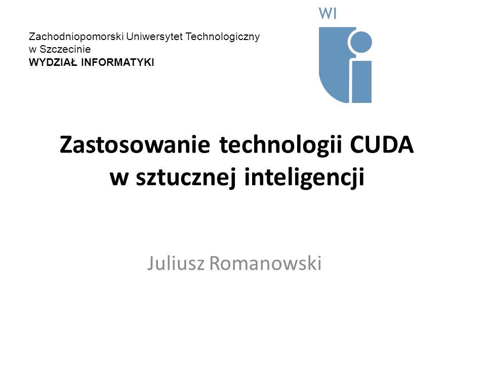 Zastosowanie technologii CUDA w sztucznej inteligencji