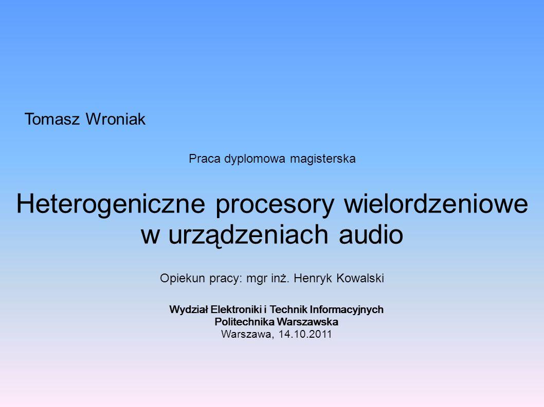 Heterogeniczne procesory wielordzeniowe w urządzeniach audio