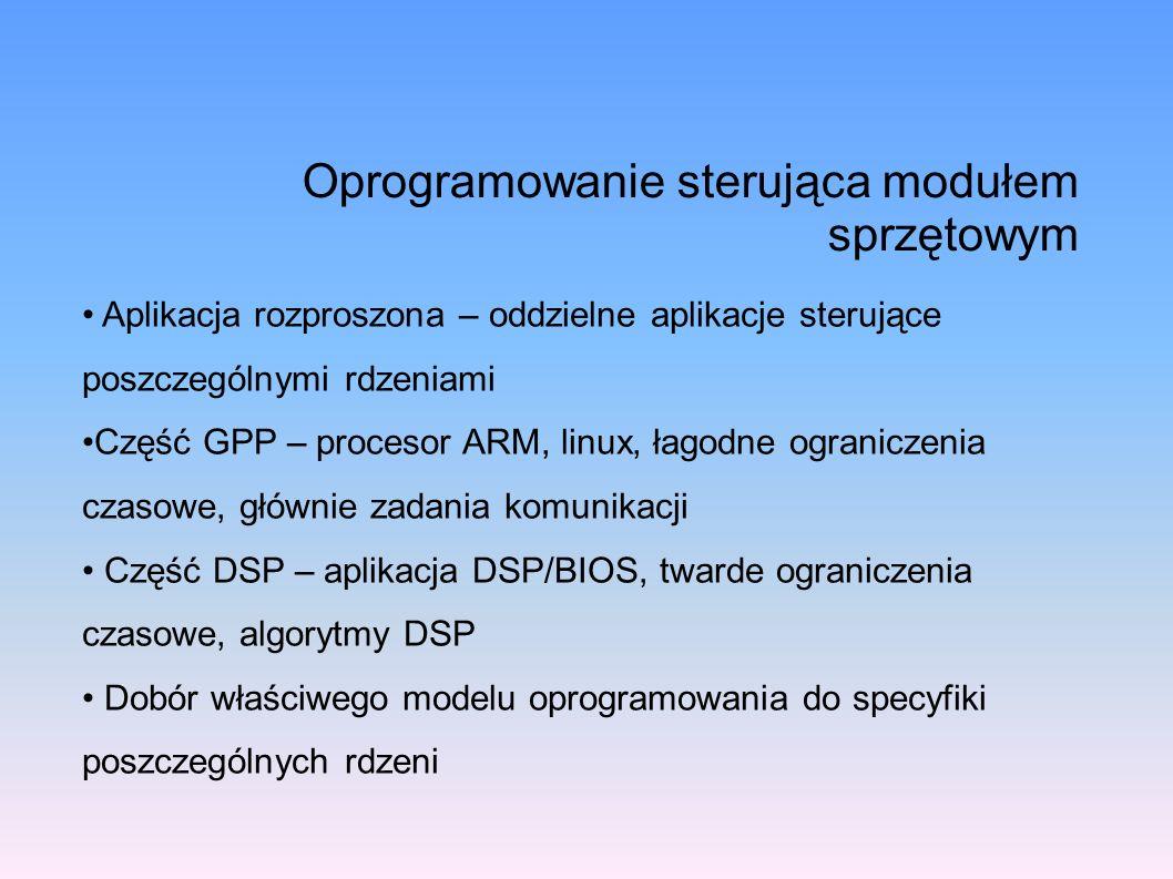 Oprogramowanie sterująca modułem sprzętowym