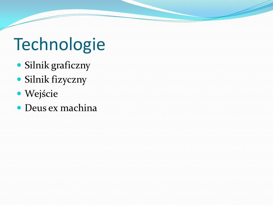 Technologie Silnik graficzny Silnik fizyczny Wejście Deus ex machina