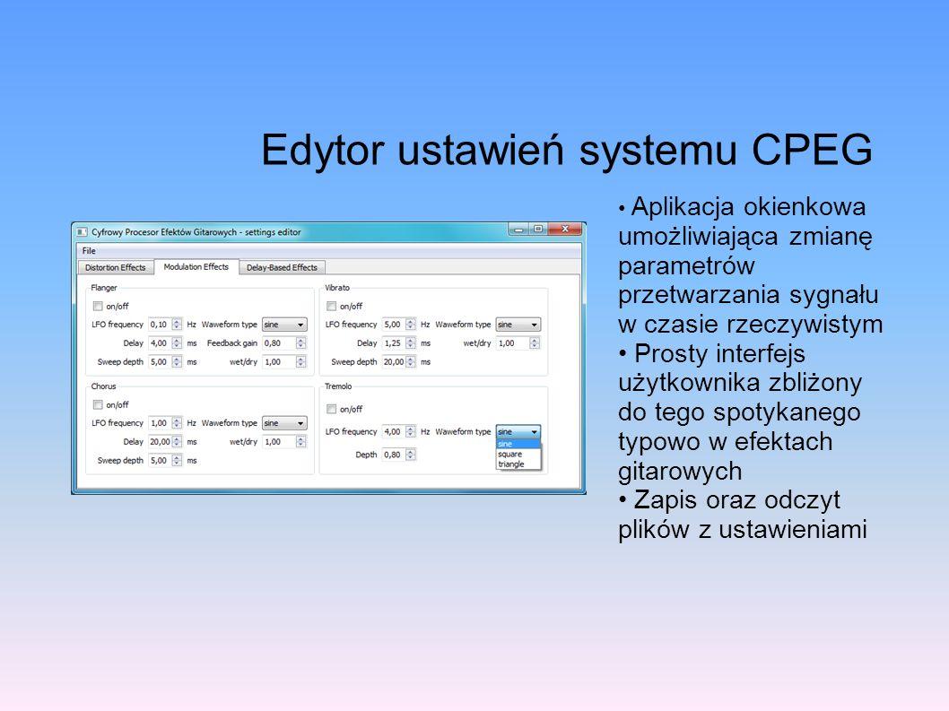 Edytor ustawień systemu CPEG