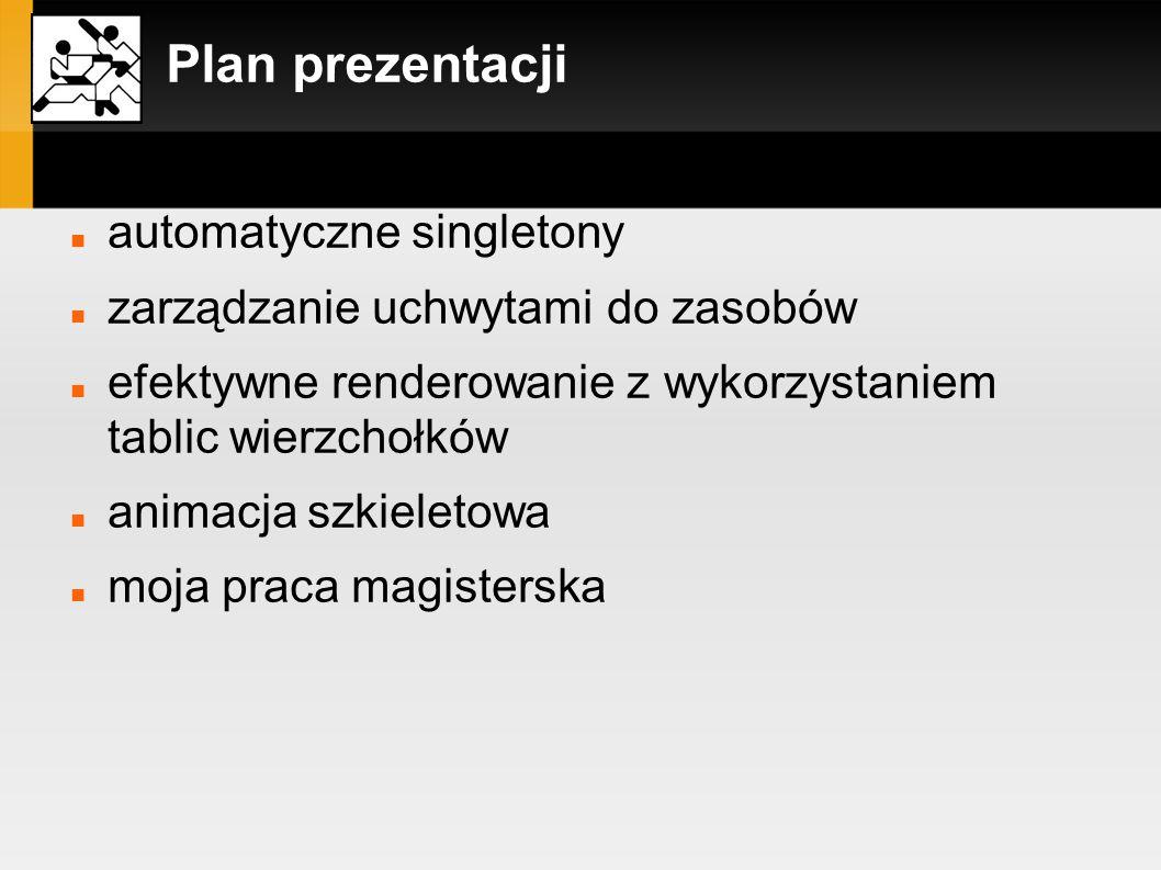 Plan prezentacji automatyczne singletony