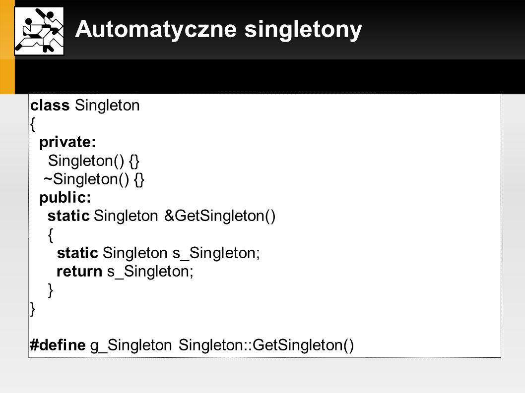 Automatyczne singletony