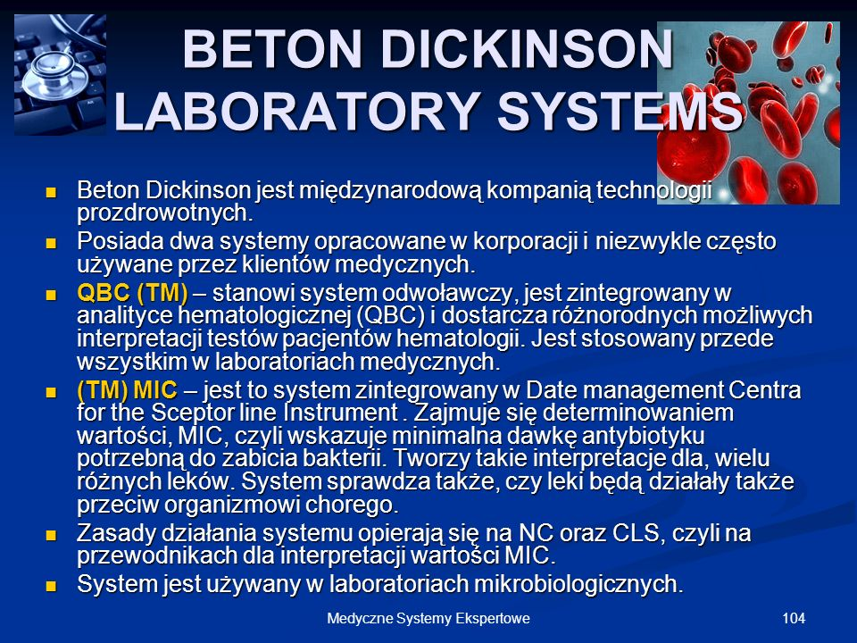 BETON DICKINSON LABORATORY SYSTEMS