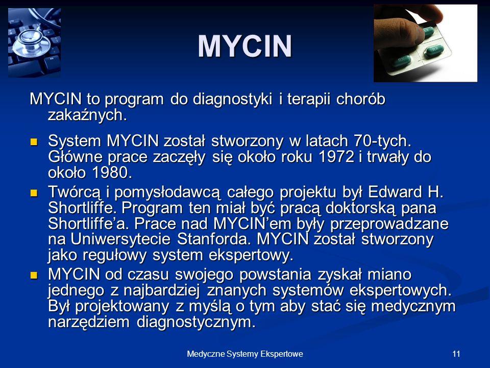 Medyczne Systemy Ekspertowe