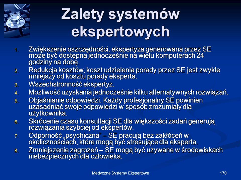 Zalety systemów ekspertowych