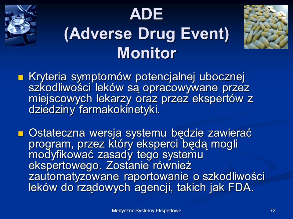 ADE (Adverse Drug Event) Monitor