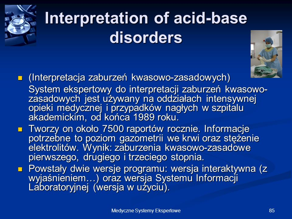 Interpretation of acid-base disorders