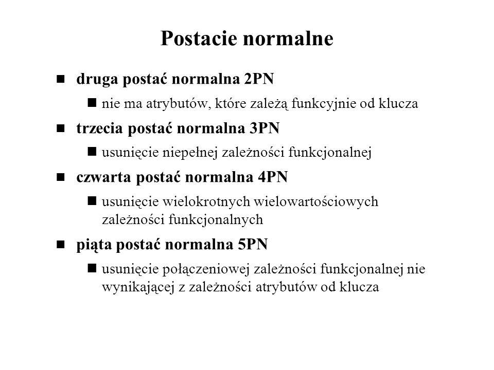Postacie normalne druga postać normalna 2PN