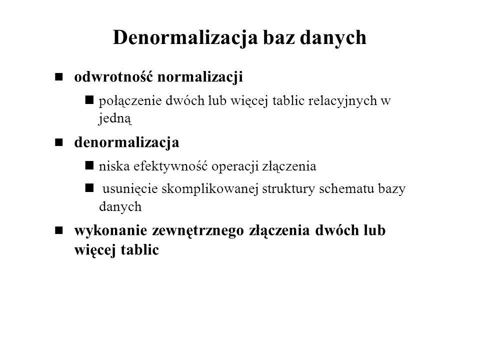 Denormalizacja baz danych