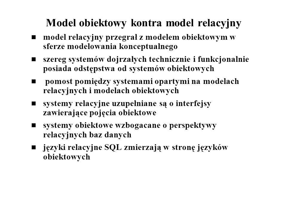 Model obiektowy kontra model relacyjny