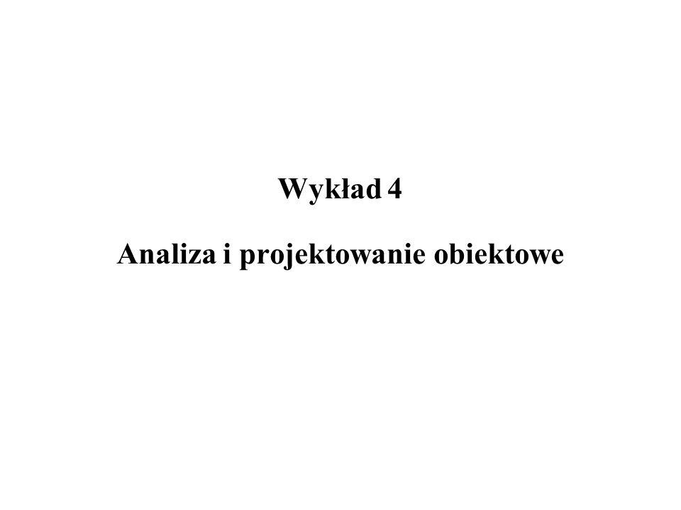 Wykład 4 Analiza i projektowanie obiektowe