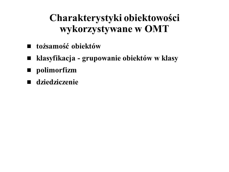 Charakterystyki obiektowości wykorzystywane w OMT