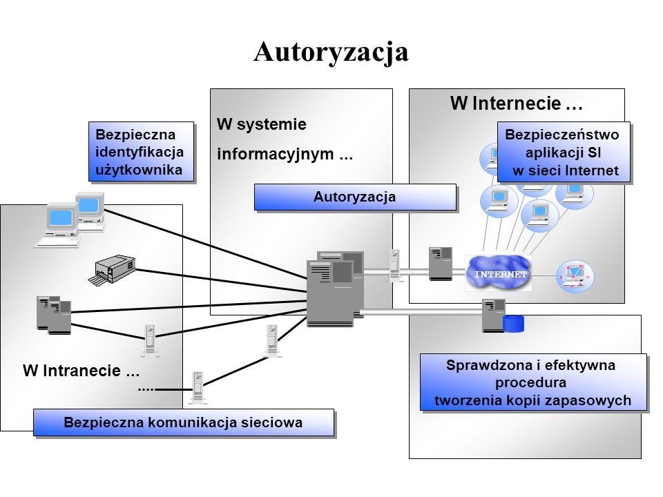 Autoryzacja W Internecie … W systemie informacyjnym ...