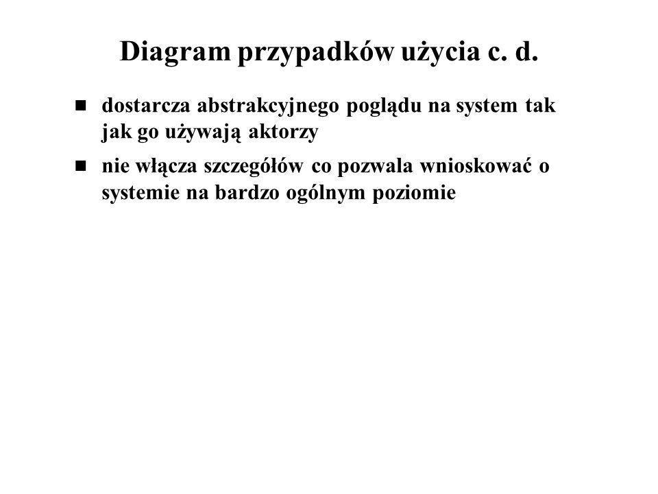 Diagram przypadków użycia c. d.