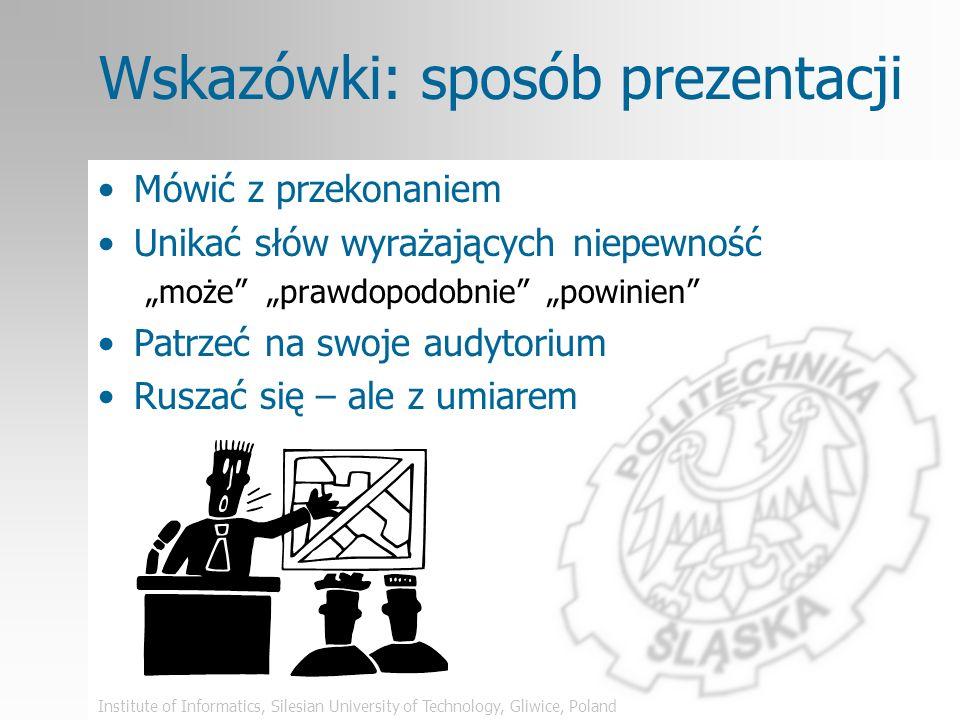 Wskazówki: sposób prezentacji