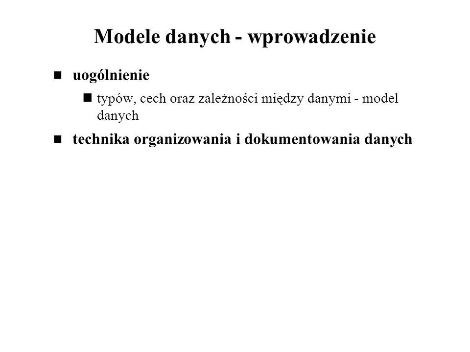 Modele danych - wprowadzenie