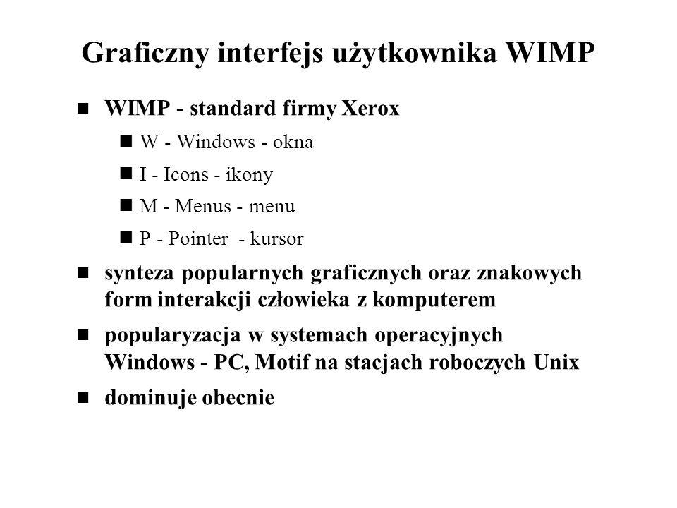 Graficzny interfejs użytkownika WIMP