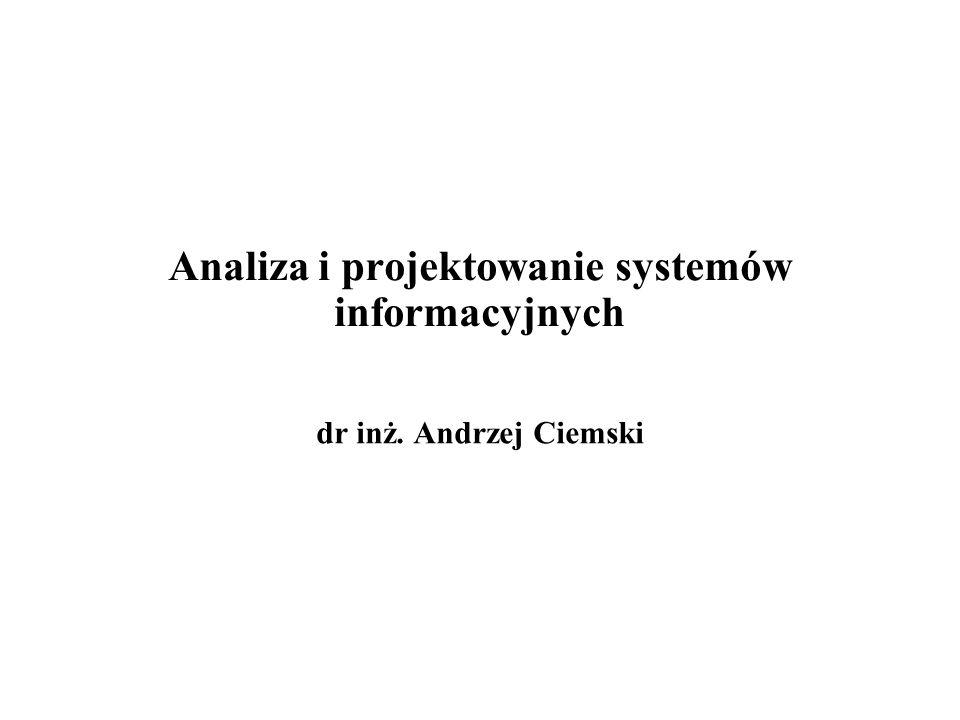 Analiza i projektowanie systemów informacyjnych