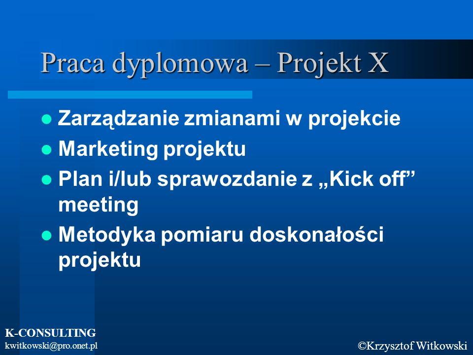 Praca dyplomowa – Projekt X