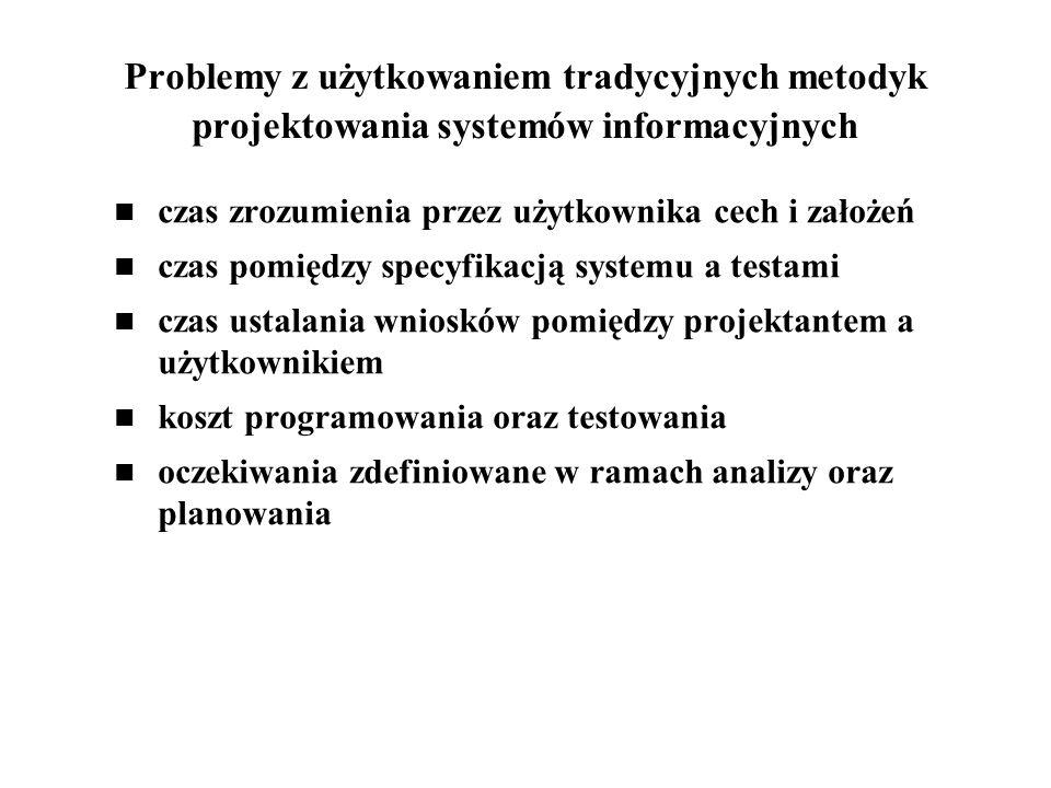 Problemy z użytkowaniem tradycyjnych metodyk projektowania systemów informacyjnych