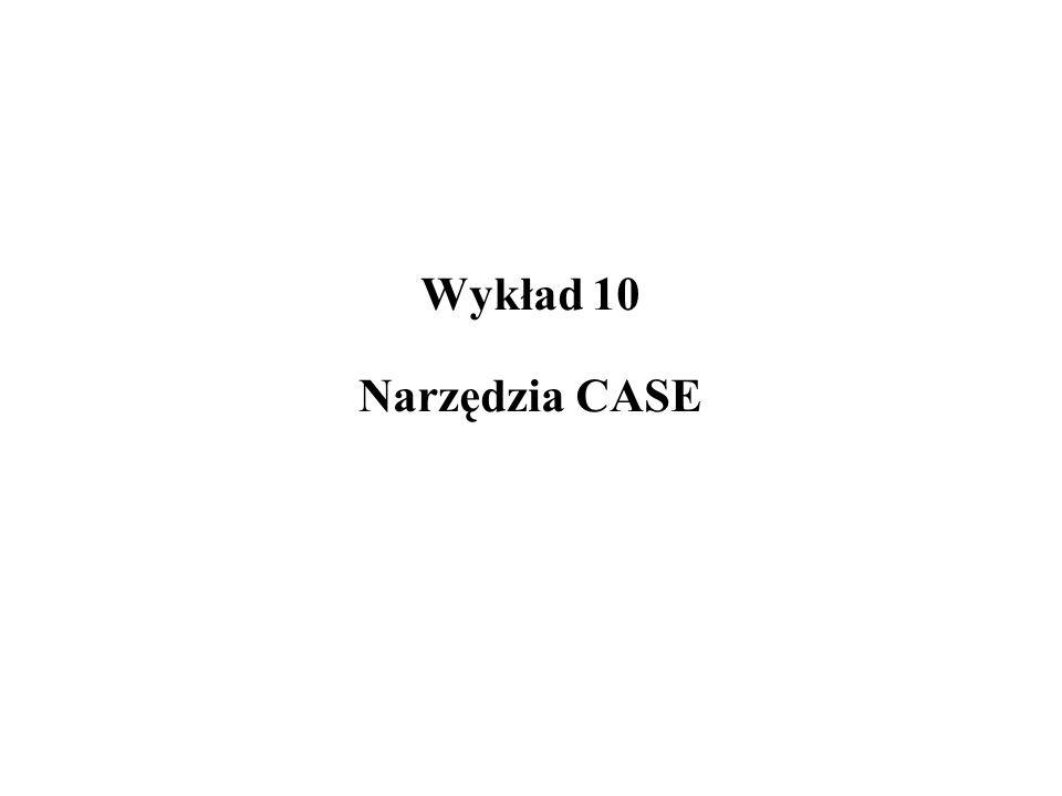 Wykład 10 Narzędzia CASE
