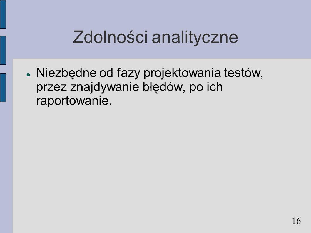 Zdolności analityczne