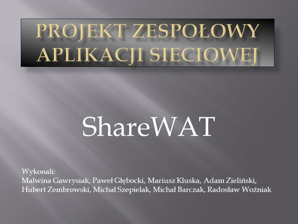 Projekt zespołowy aplikacji sieciowej