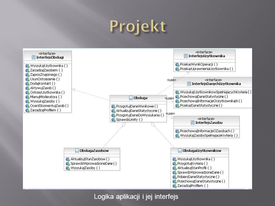 Logika aplikacji i jej interfejs