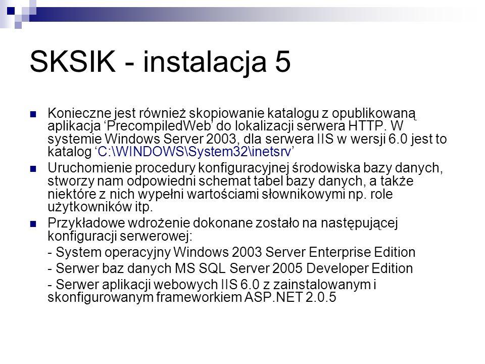 SKSIK - instalacja 5
